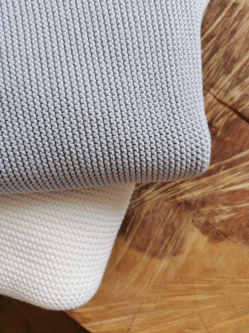Uni-Decke ecru oder grau