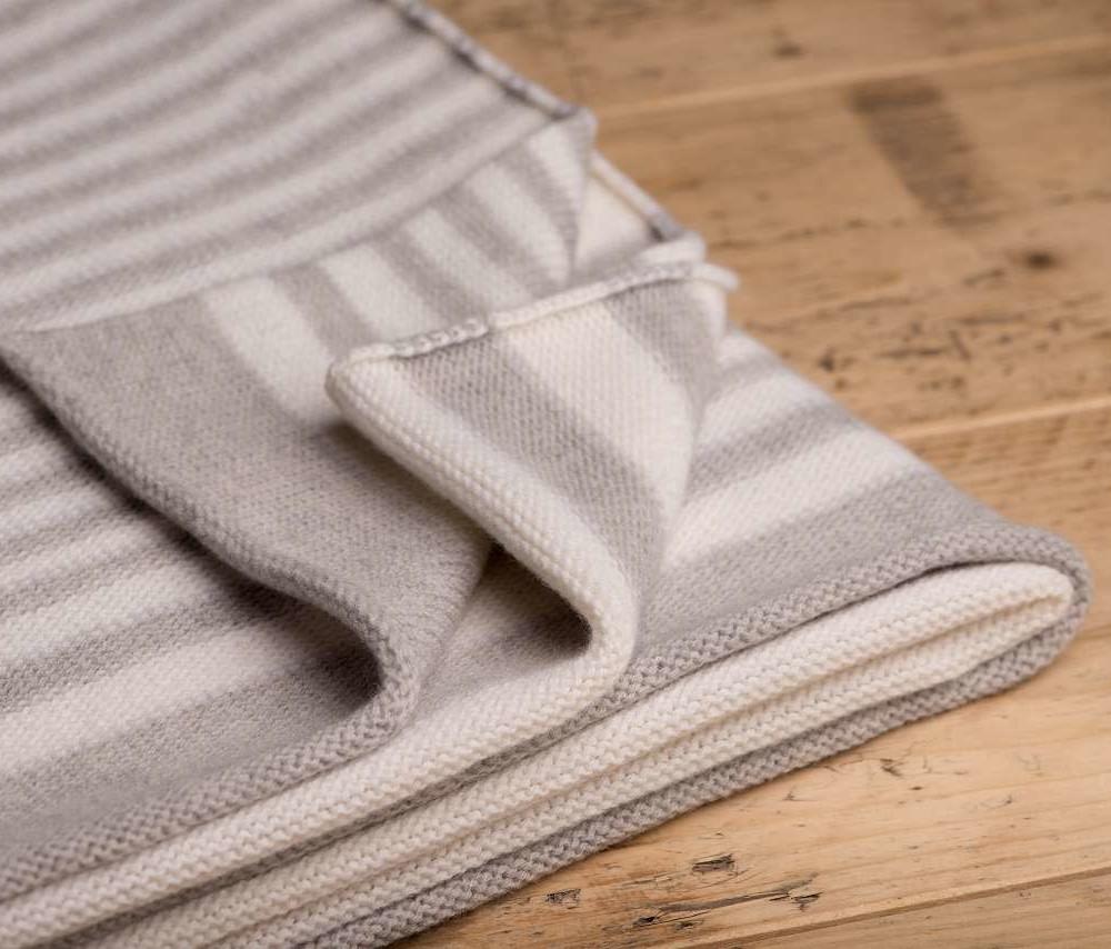 gestreifte decke zebramuster 100 merinowolle kbt. Black Bedroom Furniture Sets. Home Design Ideas