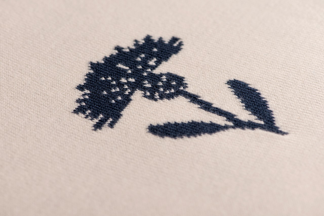 Tagesdecke Kornblumen Kissen Bio-Baumwolle GOTS-zertifiziert