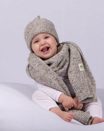 Schal und Mütze Bio-Babydecke