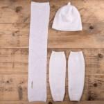 Stulpen für Babys Merinowolle extrafine weiß
